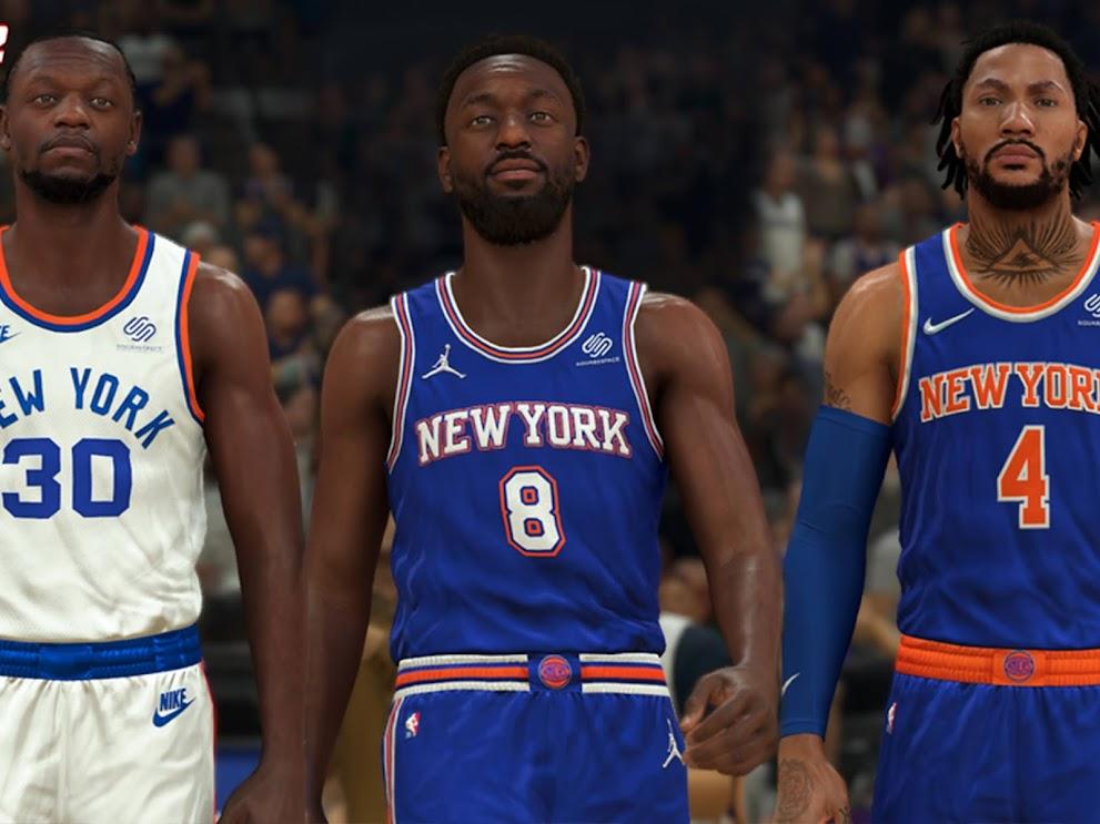 NBA 2K22 New York Knicks Jersey Pack by Pinoy21
