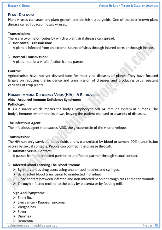 variety-of-life-descriptive-question-answers-biology-11th