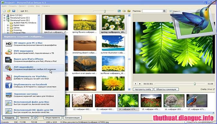 Download PicturesToExe Deluxe 9.0.21 Full Cr@ck – Phần mềm làm video từ ảnh