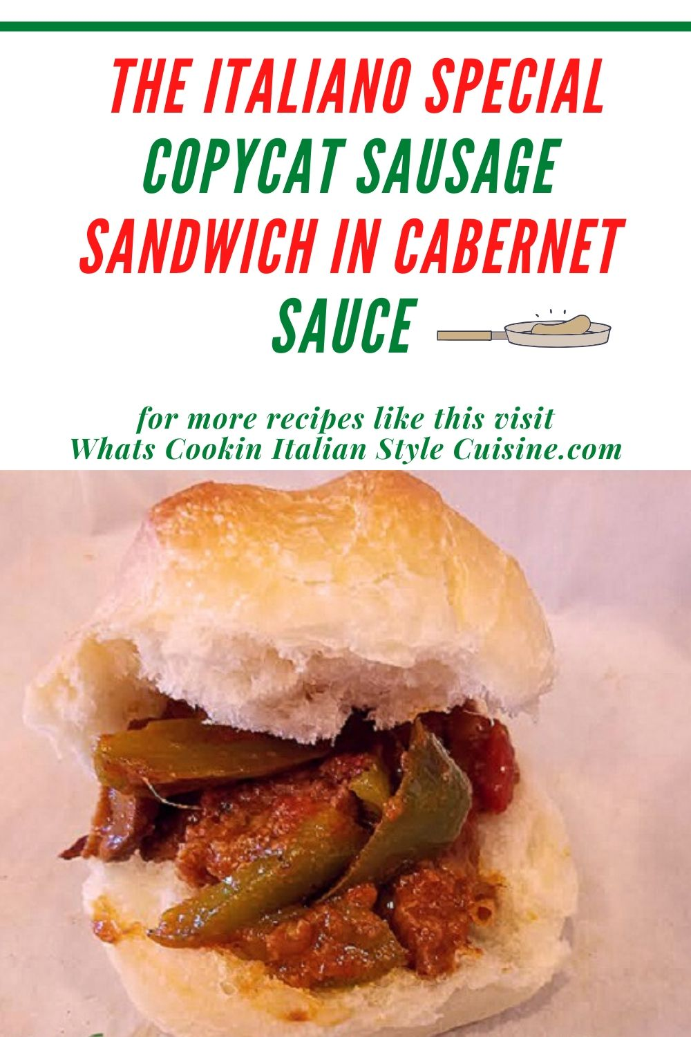 pin for later Italiano Special sausage sandwich from the Midway at Harpoon Eddies recipe