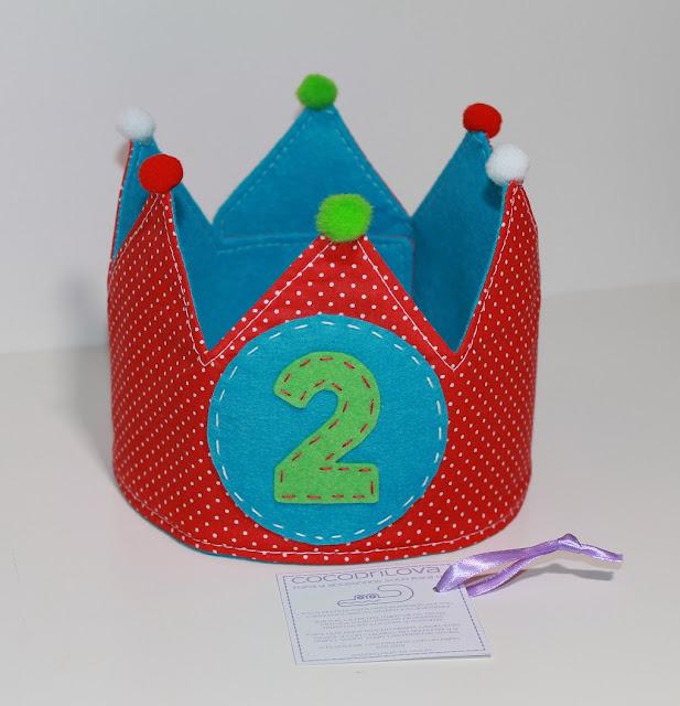 corona de cumpleaños 2 años