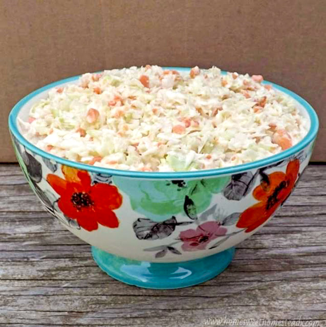Home Sweet Homestead - Classic Coleslaw - A little sweet, a little tangy, cool and crunchy Classic Coleslaw is the perfect side dish for all your BBQs and cookouts this summer.