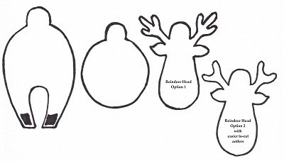 Let 39 s go december 2011 for Reindeer cut out template