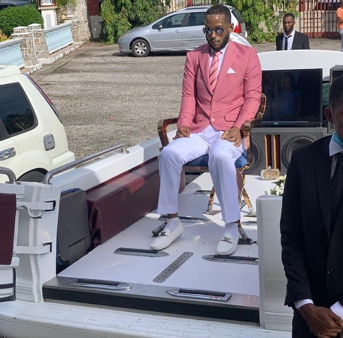 Unbelievable! Dead Man Made To Sit On A Chair At His Own Funeral In Trinidad & Tobago (Photos + Video)