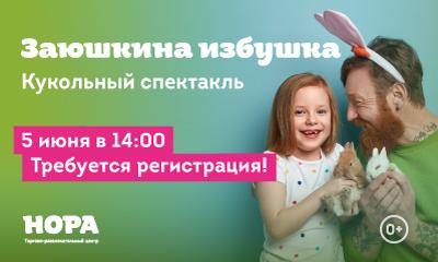Кукольный спектакль для детей в ТРЦ «НОРА»