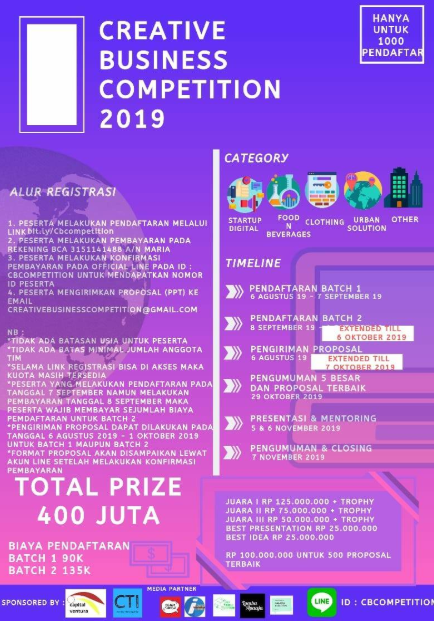 Creative Business Competition 2019
