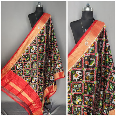 Exclusive Ikkat pure silk dupattas | pattu, chunni, salwars, chudidar, chudidar | No COD- cash on delivery | pochampallyD |