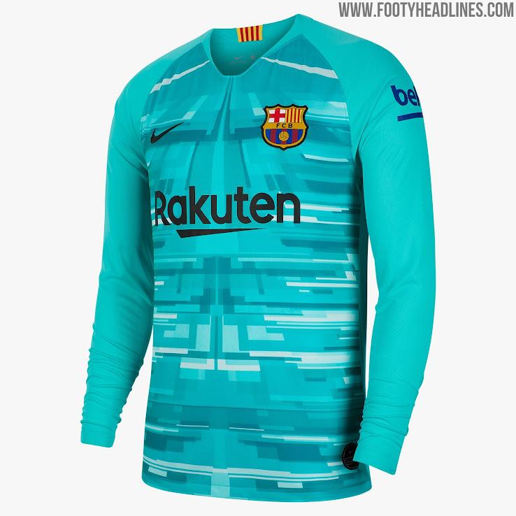 barcelona 19 20 goalkeeper home kit released footy headlines barcelona 19 20 goalkeeper home kit