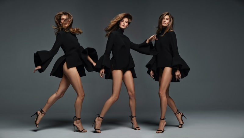Grace Elizabeth poses for Brandon Maxwell Classics Collection II.