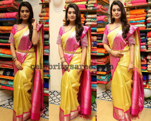 Payal Rajput Traditional Silk Saree