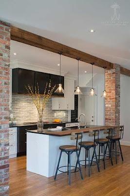 Unik! Desain Interior Ruang Keluarga Menyatu dengan Dapur