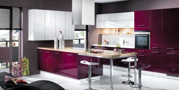 Violet cuisine - Deco cuisine moderne blanc ...