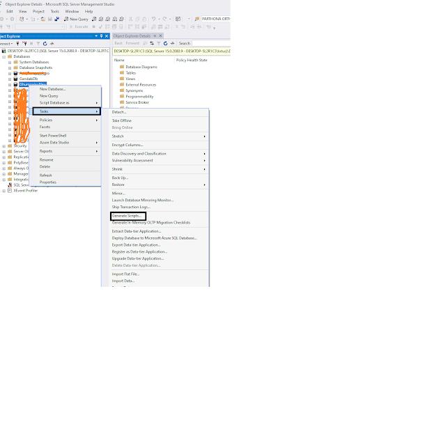 Generate script in SQL server With Data