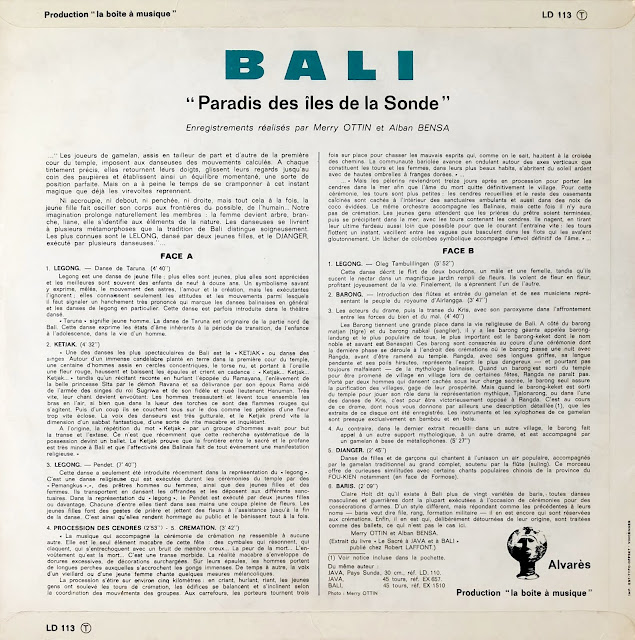 #Indonesia #Bali #gamelan #traditional music #Kecak #Ramayana Monkey Chant #vinyl #world music