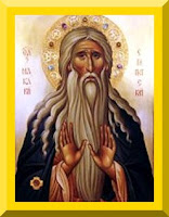Saint Macarius of Egypt icon- PD-1923