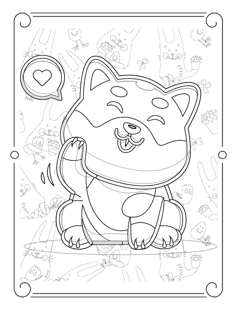 رسومات قطط كيوت