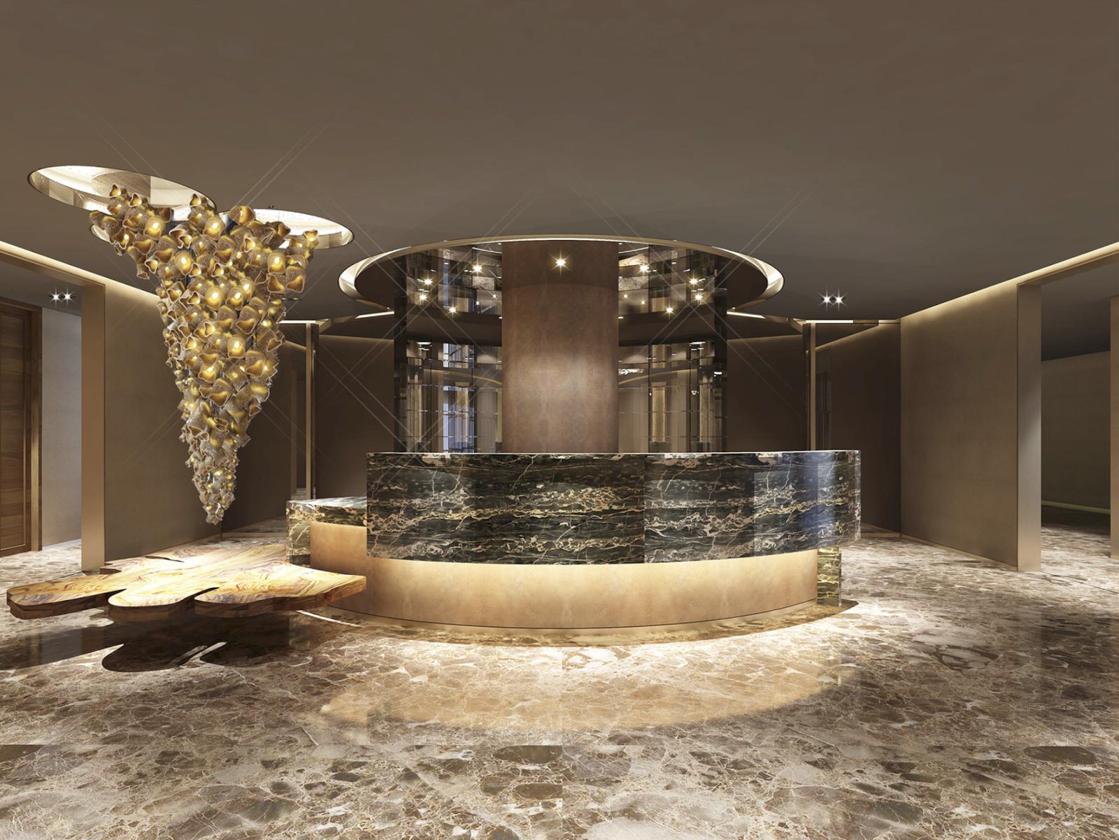 Sảnh đón tiếp sang trọng của Luxury Đà Nẵng