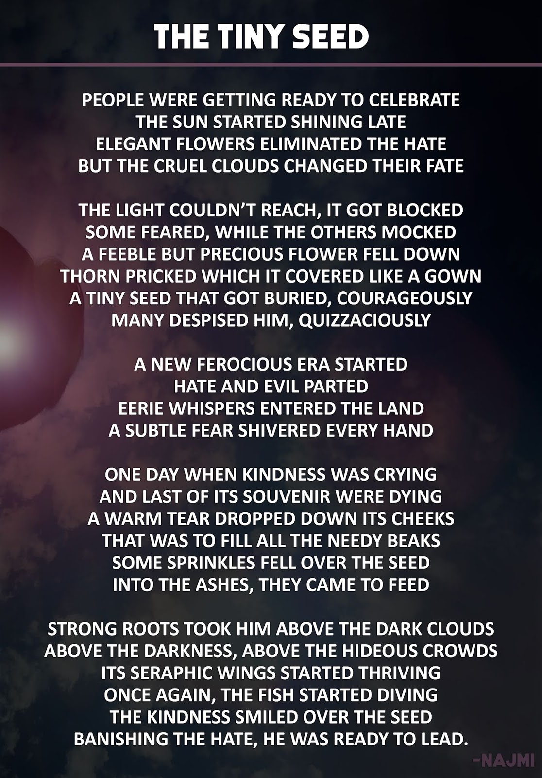 The Tiny Seed || Inspirational Poem || HNQuotes