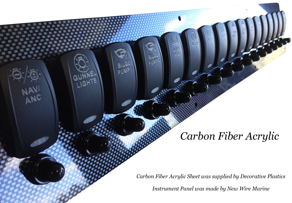 Carbon Fiber Acrylic boat instrument panel   Decorative ABS