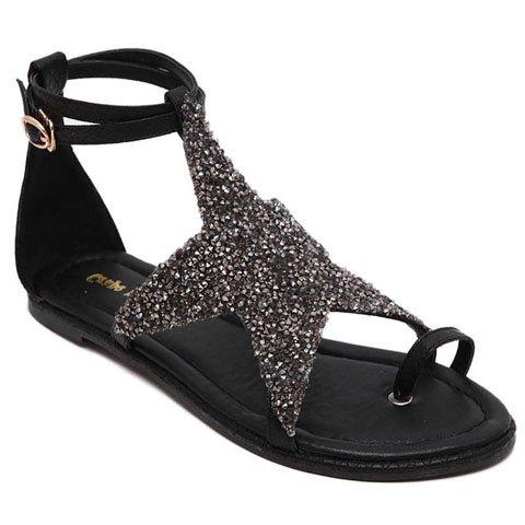 Star design sandals