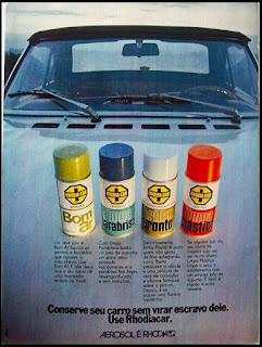 propaganda Rhodia Car - 1973, Rhodia anos 70, década de 70, Oswaldo Hernandez,