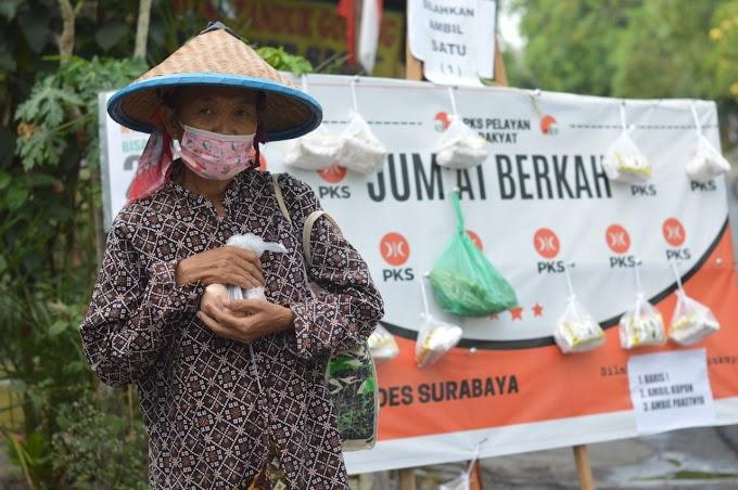 Alhamdulillah, Program Jumat Berkah PKS Manukan Kulon Sentuh Angka Ribuan Paket