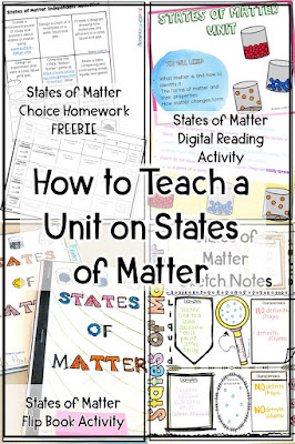 how to teach a unit on states of matter