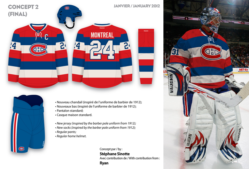 ... Stéphane continues his quest to find the Canadiens a new yet  respectable and classic 3rd jersey ... 175d453751d