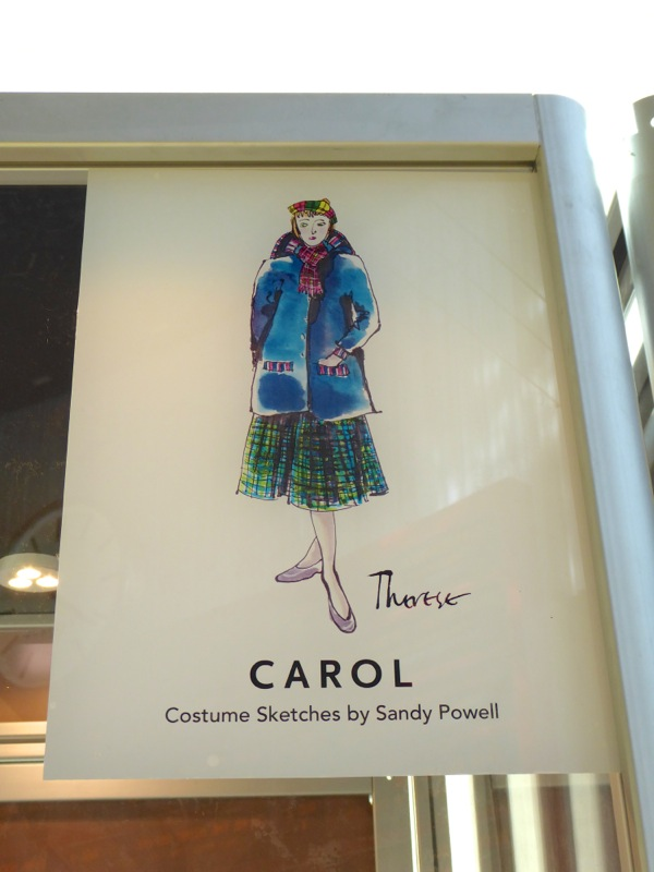 costume sketch Sandy Powell Carol movie