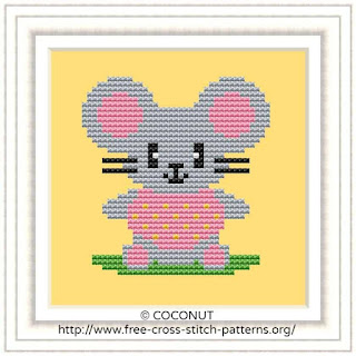 BABY MOUSE, BABY ANIMALS FREE AND EASY PRINTABLE CROSS STITCH PATTERN