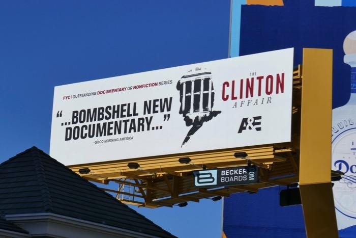 Clinton Affair 2019 Emmy consideration billboard