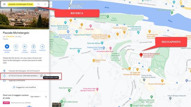 ricerca di google maps