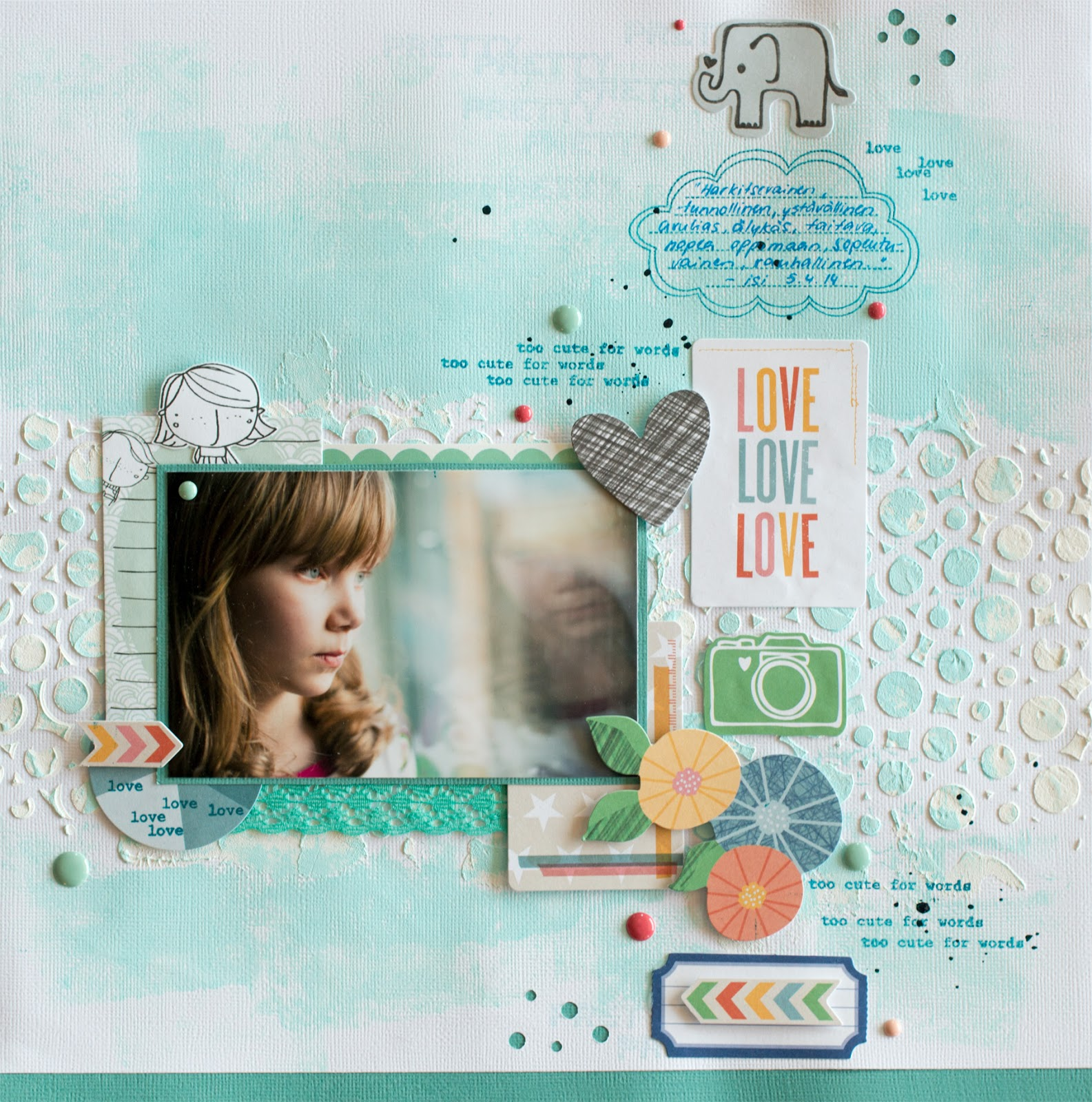 Scrapbooking layout inspired by Wilma Furstenberg