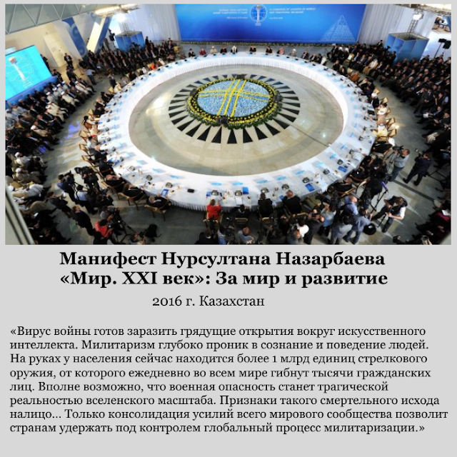 Казахстан. В манифесте Нурсултана Назарбаева