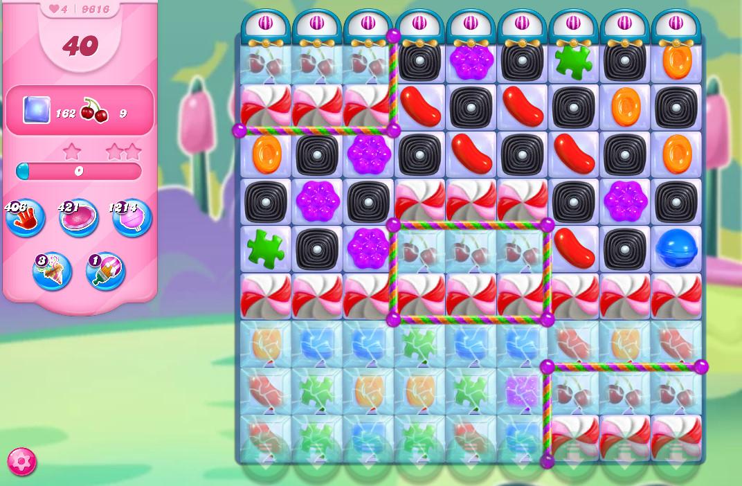 Candy Crush Saga level 9616