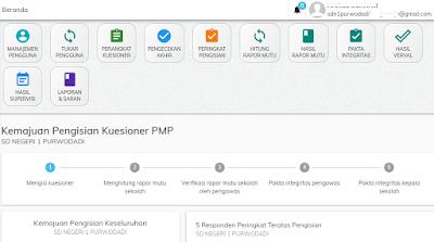 Menu utama PMP daring Online 2019