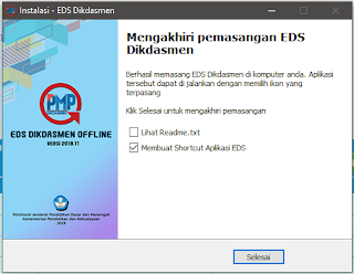 Instal Aplikasi EDS PMP OFFLINE