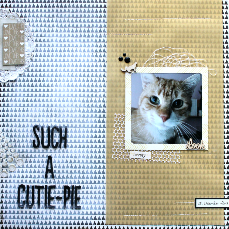 Such a Cutie-Pie | Scrapbooking Layout