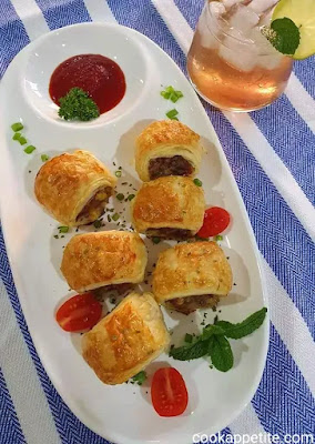 Nothing tastes as good as warm homemade sausage rolls straight from the oven. This sausage rolls recipe doesn't require a lot of prep time, apart from cooking the minced beef, adding the filling to the rolls and rolling them