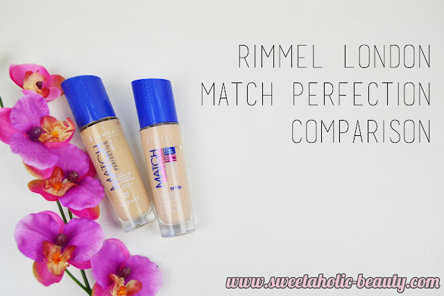 Rimmel London Match Perfection Foundation Comparison - Sweetaholic Beauty