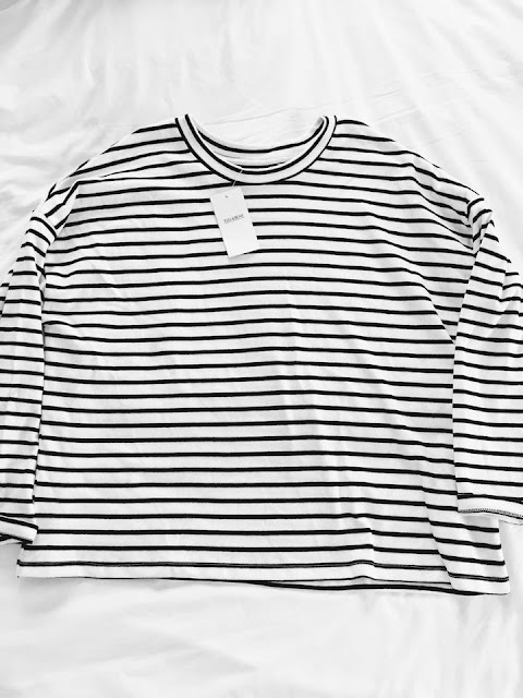 Striped Jumper Pull and Bear  Kaleidoscope Peonies