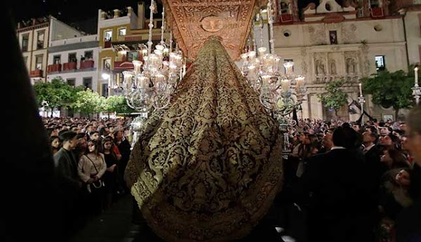 El Amor de Sevilla y el IAPH firman el acuerdo para supervisar la restauración el manto de la Virgen del Socorro