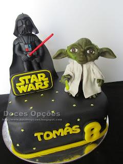 O Darth Vader e o Yoda foram ao aniversário do Tomás