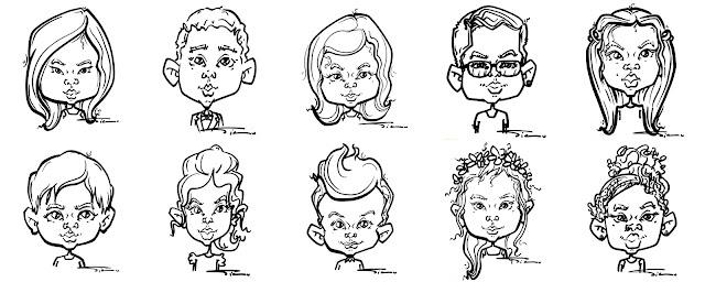 Cute, funny kids caricatures by Silu Cartoon, London