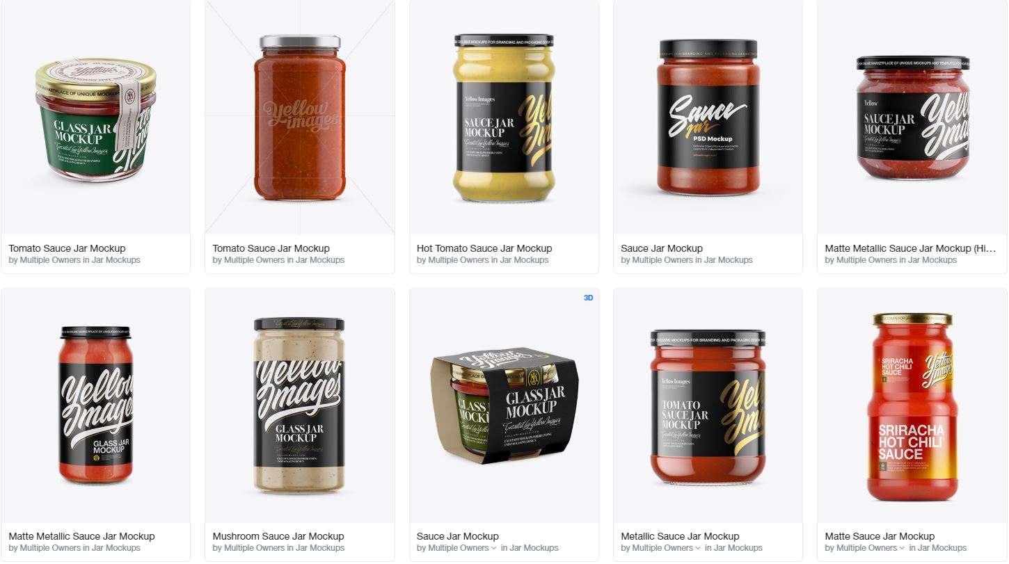 Download 80 Best Sauce Jar Mockup Templates Graphic Design Resources PSD Mockup Templates