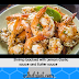 Shrimp backed with Lemon Garlic sauce and Butter sauce