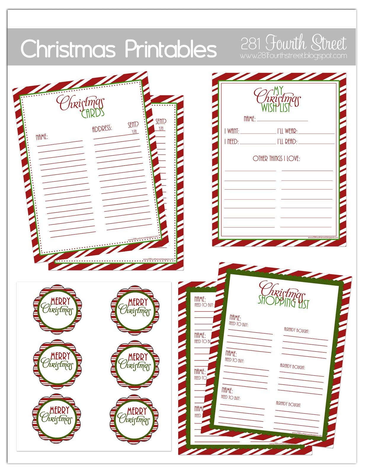281 Designs Christmas Organization Printables