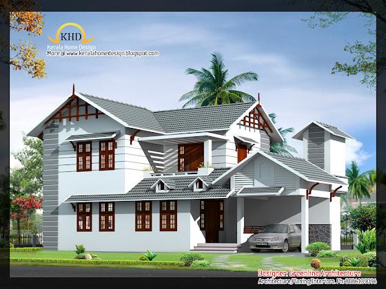 Indian Home Villa Design - July 2011