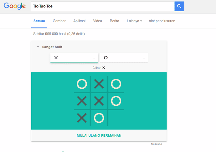 Tic-Tac-Toe in Google