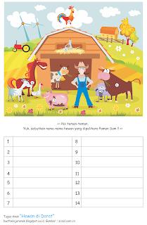 Tugas anak bertema hewan di darat dan air Tugas Anak Bertema Hewan di Darat dan Air